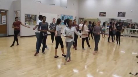 Students Practicing for Dance Showcase