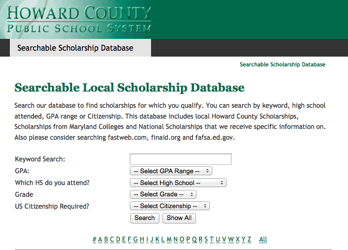 Scholarship Database Eases Scholarship Process