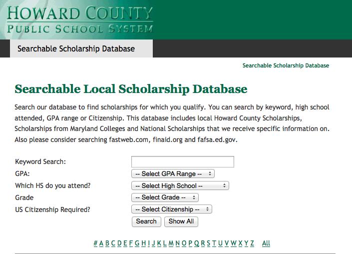 Scholarship Database Eases Scholarship Process