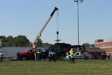 Helicopter Makes Emergency Landing on Football Field
