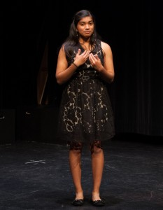 Meghna Manohar recites her oratorical declamation that she'll take to Nationals this Memorial weekend.