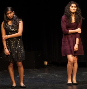 Sara Shemali (right) and Meghna Manohar (left) perform their National qualifying duo.