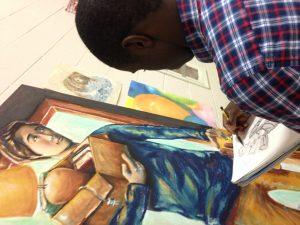 Senior Luke Ferguson's artwork inspires fellow Senior Sam Enomanna