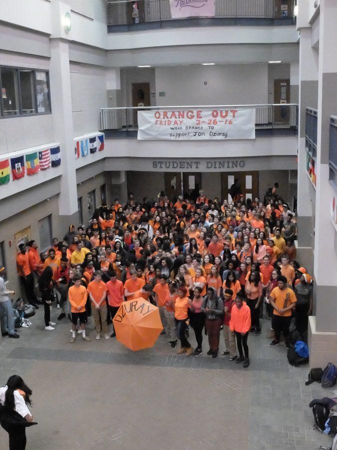 Wilde Lake Students Wear Orange for Jon Dzuray