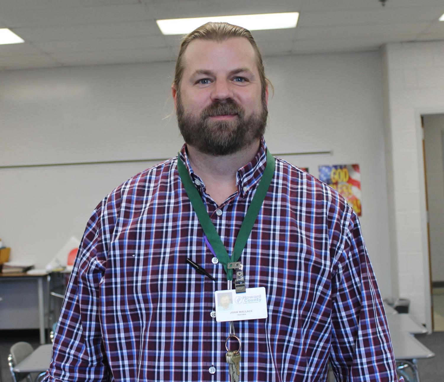 Mr. Wallace in his classroom