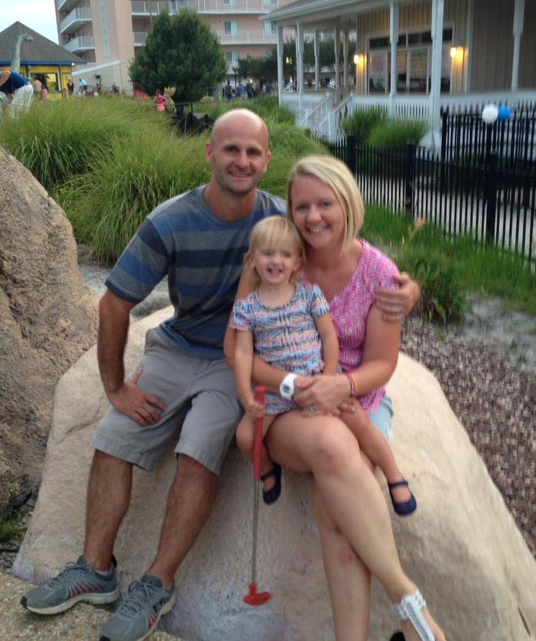 Mr. Holzman with his family