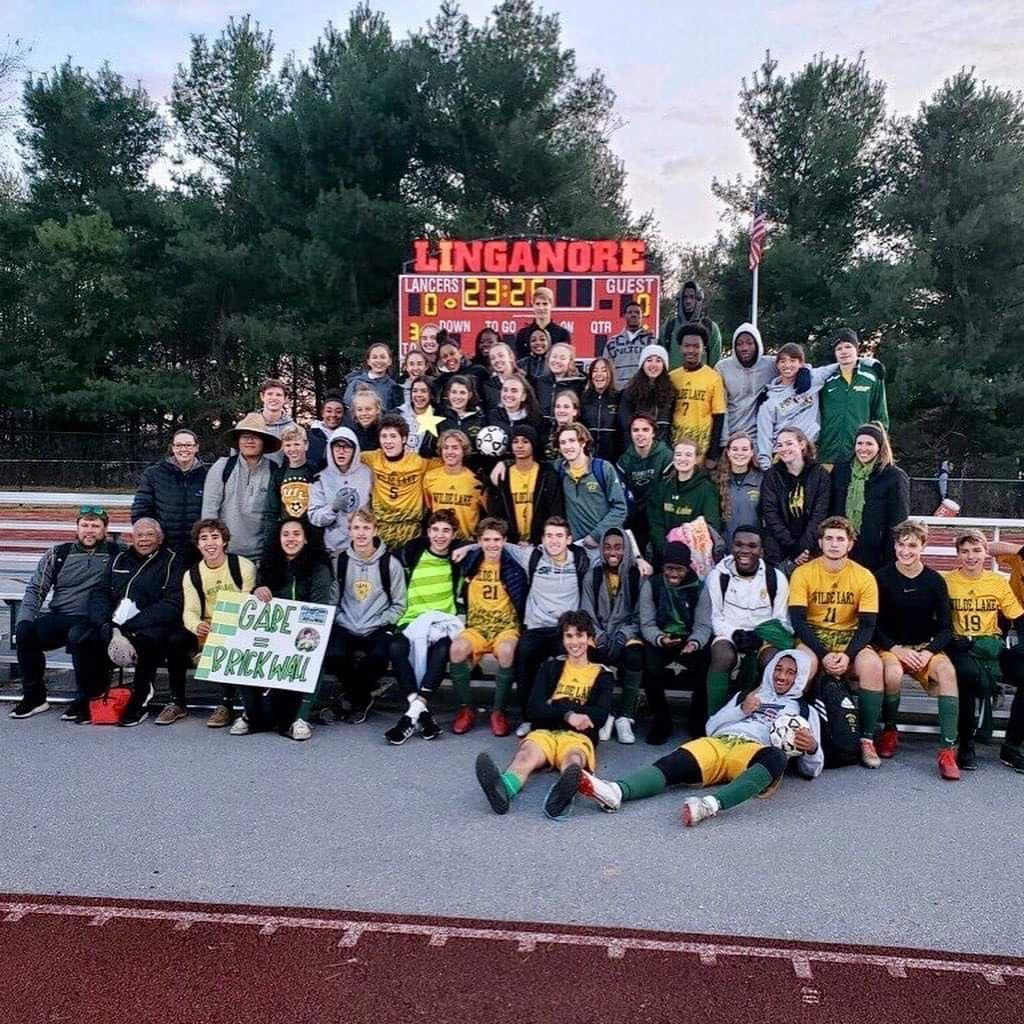 The Wilde Lake soccer program are pictured celebrating their victories aganist Mount Hebron (boys) and Chesapeake High (girls).