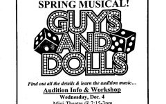 Auditions for Wilde Lake's Spring Musical, Guys and Dolls