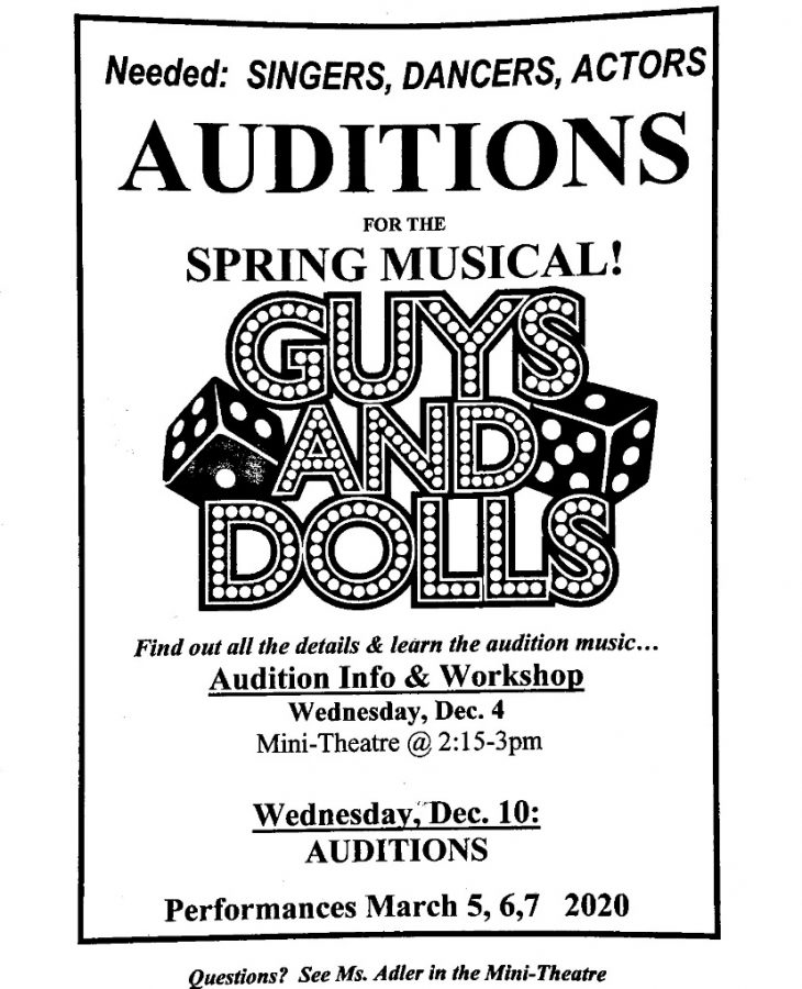 Auditions+for+Wilde+Lake%E2%80%99s+Spring+Musical%2C+Guys+and+Dolls