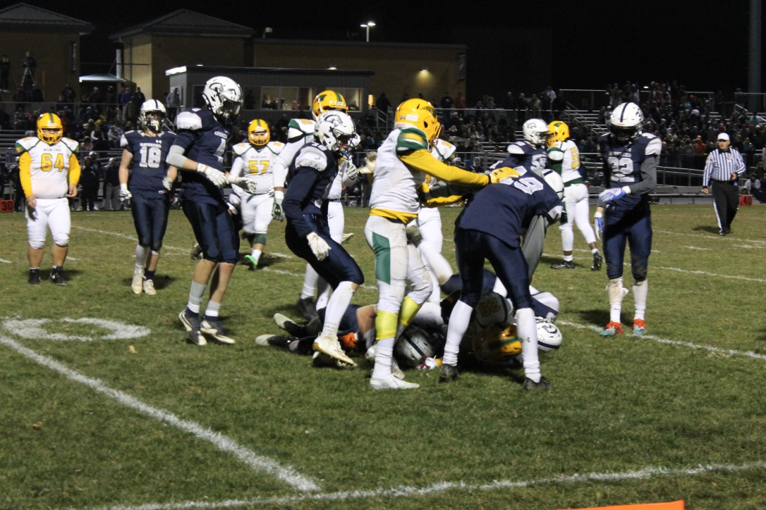 Wilde Lake Football at Manchester Valley for their second playoff game.