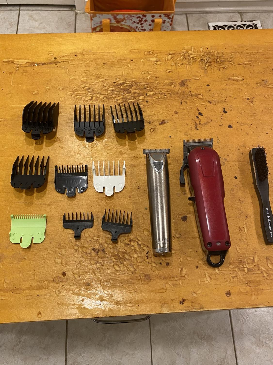 This is a photo of my dad's barber clippers and we are using them to cut my hair during this pandemic because I usually go to a barber shop.