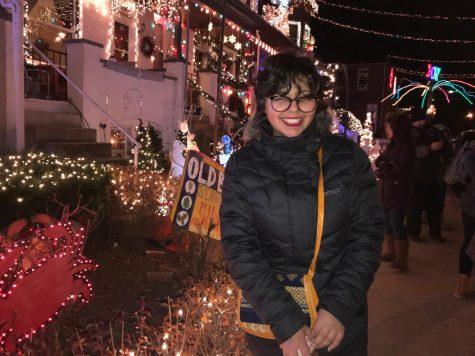 Ranim in Baltimore on 34th street for the Christmas lights, December 2019