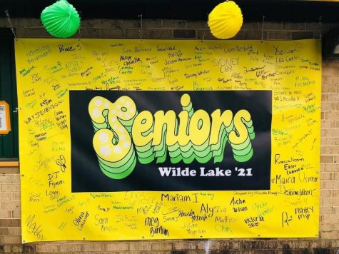 This is the poster signed by just about all of Wilde Lakes seniors before we finish our final school year together.