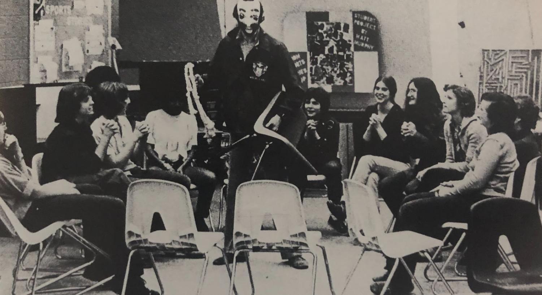 Former English teacher Mr. Berkowitzs Advisory in 1974.